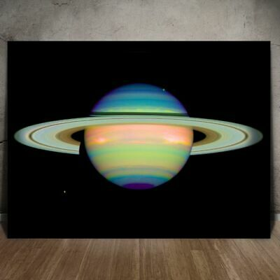 SPACE STARS SATURN PLANET RING MOONS SOLAR SYSTEM POSTER ART PRINT LV11143