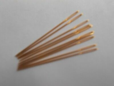 Gold Plated Needles Size 26 - Pack of 10