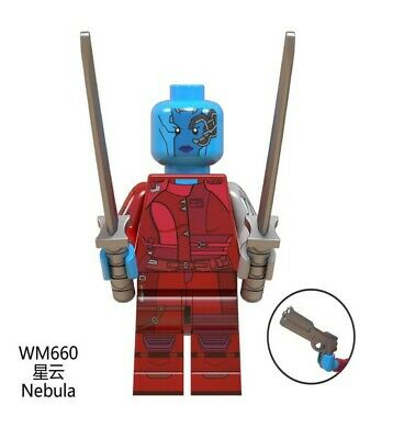 Lego fit mini figures Marvel Avengers Nebula Red outfit