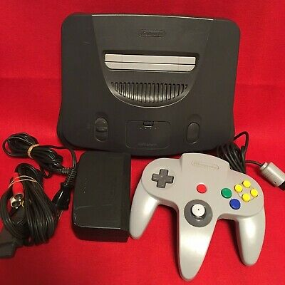 Nintendo 64 Console System Set FREE SHIPPING NUS-001 Tested Controller Game JP