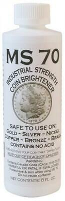 Coin Brightener MS 70 For All Type Of Coins No Acid 8 Ounce Bottle US Post Only