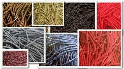 Rond 2/3mm Chaussure Lacets pour Chaussures/Bottes Neuf