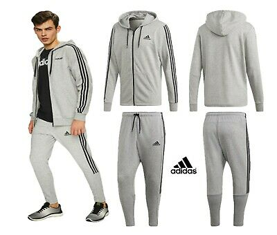 Adidas Mens Tracksuit Hoodies Bottoms Hoody 3-Stripes Joggers Fleece Sweatshirt