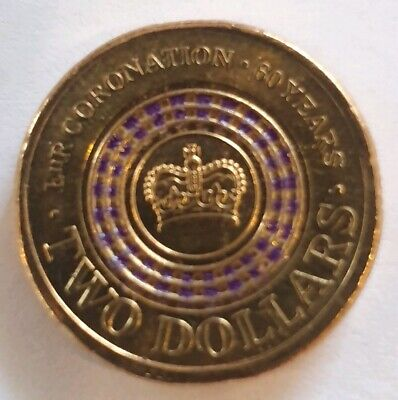 2013 $2 Two Dollar Coin Purple 60TH Anniversary Queens Coronation UNC