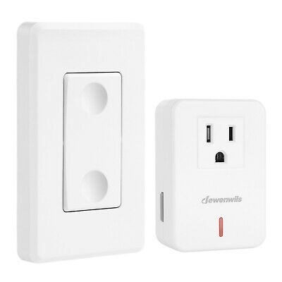 DEWENWILS Remote Control Outlet Wireless Wall Mounted Light Switch HRLS11C