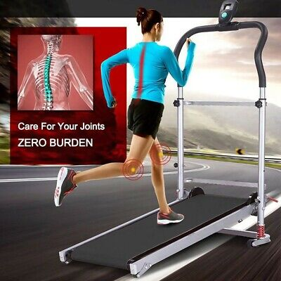 Manual Treadmill Folding Portable Running Gym Fitness Walking Machine Adjustable