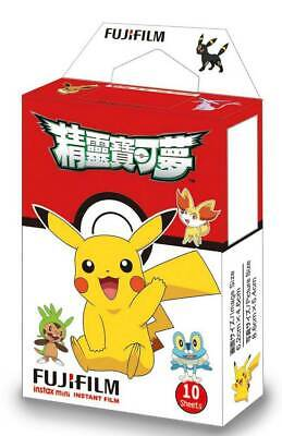 2019-03 Fujifilm Instax Pokemon Pikachu 10 Sheets For Mini 9 8 7s 70 90 25