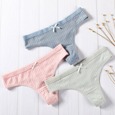Women Cotton Underwear Female Sexy Lingerie G-string Underpants Intimate ThoWFI