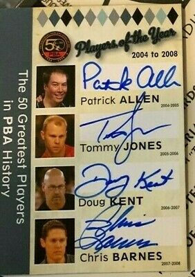 Tommy Jones Autographe Hall of Fame 2016 Upper Deck Goodwin Champions Auto PBA Bowling UD