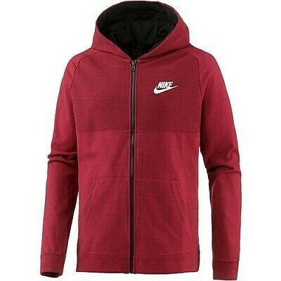NIKE NSW AV15 Hoodie FZ FLC Advance 15 Full Zip Herren rot