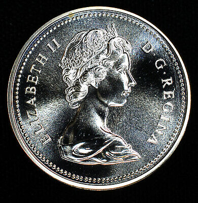 Canada $1 Dollar 1976 Proof Like silver KM#106 Specimen Parliament Library