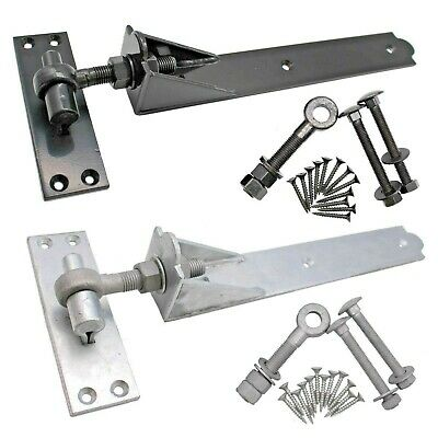 Adjustable Gate/Garage Hinges Heavy Hook&Band Galvanised OURS Inc SCREW & BOLTS