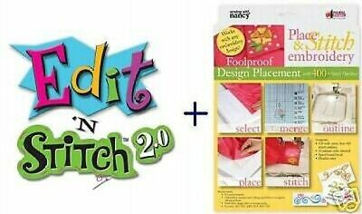 Amazing Designs- PLACE /EDIT N STITCH V2 SOFTWARE COMBO