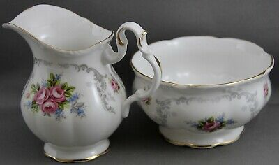 Royal Albert Small Cream Pitcher & Sugar Dish-Tranquillity