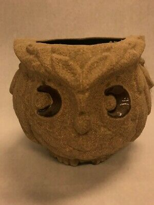 MCM ceramic Vintage pottery OWL glazed 8.5 by 7.5 inch planter vase centerpiece