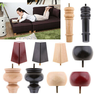 Solid Wood Couch Furniture Legs Wooden Tapered Cabinet Plinth Leg Replacement