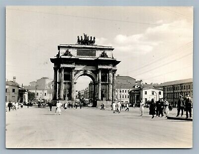 MOSCOW RUSSIA LENINGRAD RD. ARCH VINTAGE 1930s REAL PRESS PHOTO NJ WORKSHOP