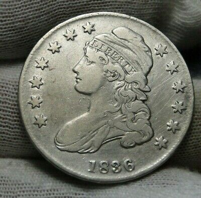 1836 Capped Bust Half Dollar 50 Cents, Nice Coin Free Shipping  (8971)