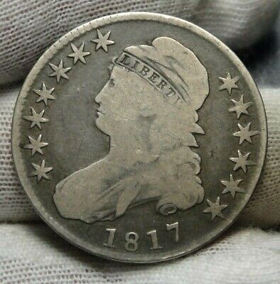 1817 Capped Bust Half Dollar 50 Cents - 0-112a R2 Nice Coin, Free Shipping(8984)