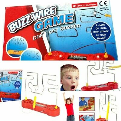 Electric Wire Nerve Buzz Steady Skill Hand Maze Game Kids Children Adult Fun New