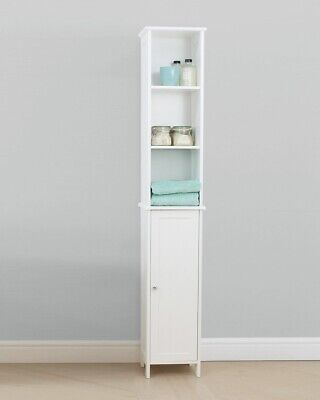 Free Standing Tall Bathroom Cabinet - White