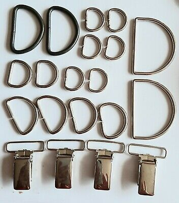 Metal D-Rings Buckles for Webbing/Fabric Strap Bag Making-Various Sizes/styles