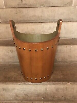 Tell City Chair Company Solid Hard Rock Maple Andover Wastebasket