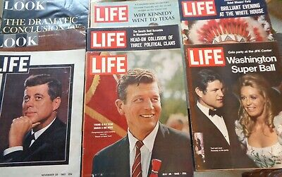 8 -Life Magazines All Kennedy Related,