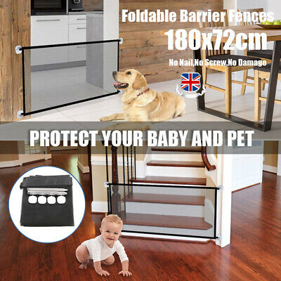 Portable Pet Barrier Fences Mesh Dog Gate Baby Safety Isolation Separation Guard
