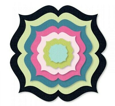 Sizzix Framelits Scallop Circle Stand-Ups Card 19pc set #660719 MSRP $39.99