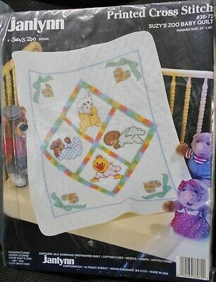 Dimensions Nursery Ruth Morehead Embroidery Quilt Crib Cover Kit 79002 Stamped