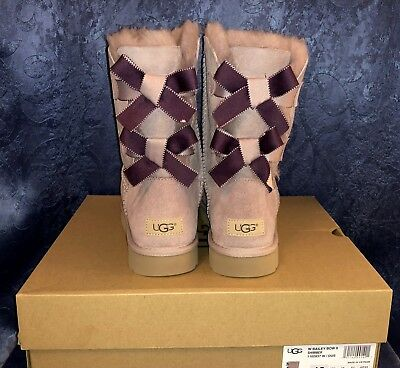 UGG Bailey Bow II Shimmer Dusk Boots Women USA 7 BRAND NEW in BOX