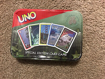 Uno National Park Foundation Special Edition Card Game Tin 2002 *Not Complete