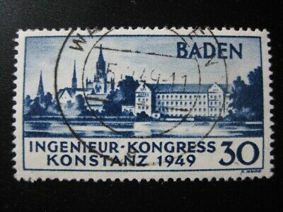 BADEN FRENCH OCCUPATION Mi. #46 scarce used stamp! CV $102.50