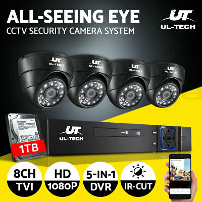 UL-tech CCTV Camera Security System Home DVR 1080P Outdoor with 1TB Hard Drive