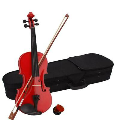 4/4 Acoustic Fit for Adults Handmade Pure Sound Violin Fiddle w/ Case Bow Rosin