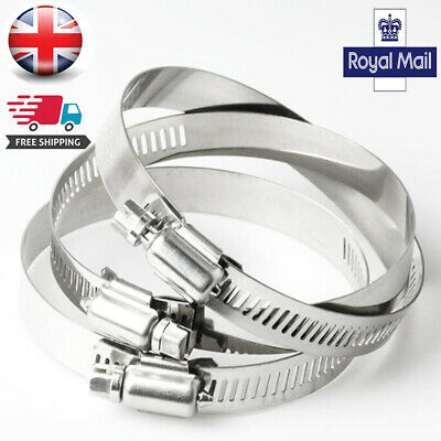 UK Stainless Steel Jubilee Hose Clips / Clamps (Worm Drive) - Mild Steel