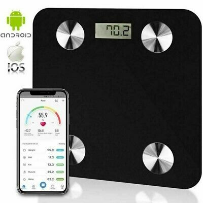 Digital bathroom scale bluetooth smart BMI body fat scales weight iOS ANDROID