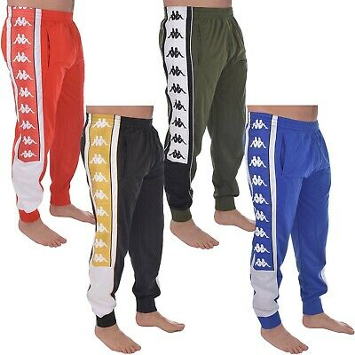 Kappa Mens Sports Retro Cuffed Elasticated Track Pants Tracksuit Bottoms Joggers