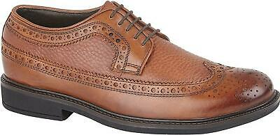 Roamers JAMES Mens Leather LaceUp Smart Casual Brogue Wingtip Gibson Shoes Brown