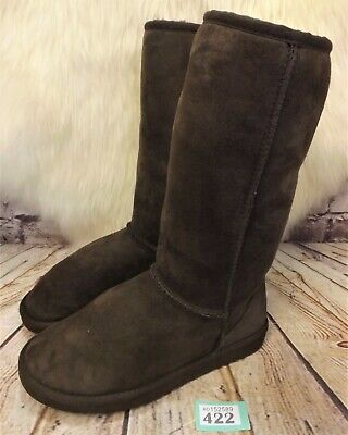 Girls UGG Australia Tan Classic Brown Sheepskin Boots UK 5 US 6 - Model 5229