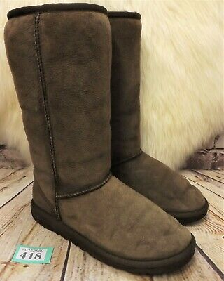 Girls UGG Australia Classic Tall Brown Sheepskin Boots UK 3.5 EUR 34 Model 5229