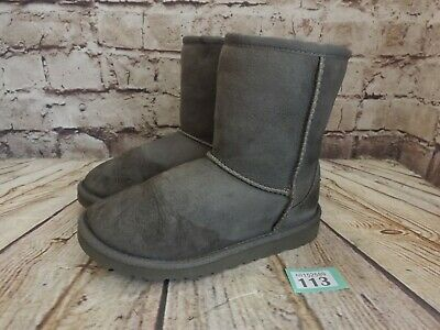 Kids UGG Australia Grey Classic Short II Sheepskin Boots UK 1 EUR 32 -Model 5825