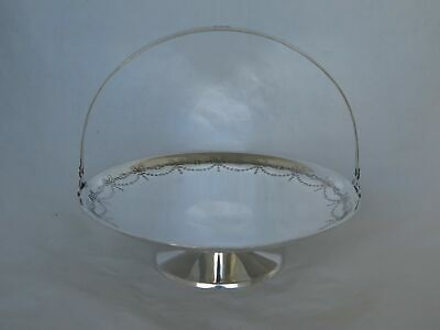Heavy Antique Sterling Silver Cake Stand with Handle
