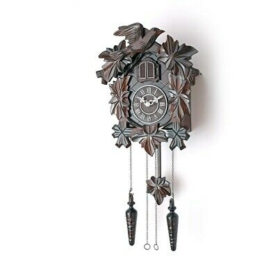 NEW Cuckoo Clock with Night Mode, Hand Carved Birds, Weights & Swinging Pendulum