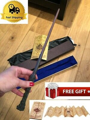 """Best Metal HOT New Harry Potter Rare 14.5"""" Magic Wand Cosplay Gift In Box"""