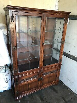 Old Charm Glass Display Cabinet Lovely Condition Clw Key & Booklet