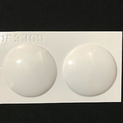 "Resin Mold 3.5"" Round Domes Shallow Pendant 89 mm Reusable Plastic Plaster USA"