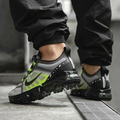 New NIKE Air VaporMax Casual Training Gym Shoes Mens gray volt black all sizes