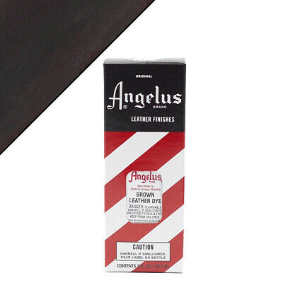 C--014 Angelus Permanent Leather Dye With Applicator 3Oz Brown